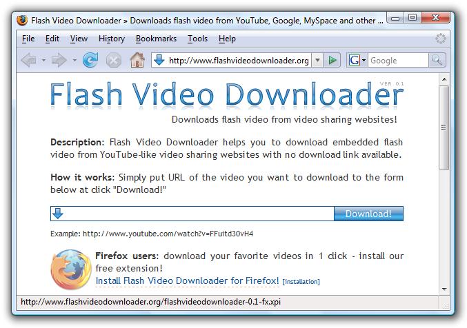 Flash Video Downloader   Firefox extensions, Opera plugins, Internet